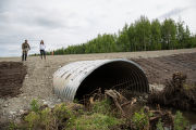Fish passage culvert in the Mat-Su valley