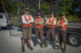 Crew of the U.S. Fish and Wildlife Service boat, The Magna Carpa