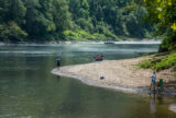 People fishing on the Cumberland River Tailwater