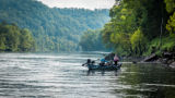 People drift boat fishing on the Cumberland River Tailwater
