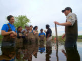 USFWS employees and interns working in the field