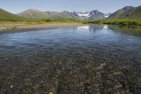 Summer View of a River and Mountains in the Togiak Refuge