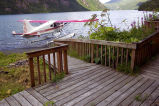 USFWS Uganik Lake Cabin Deck and Floatplane