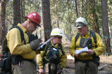 Operational briefing during burn