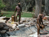 Bronze sculpture of Fishery Workers
