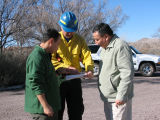Refuge visitors curious about prescribed fire.