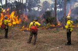 FWS Firefighters Monitor Perscribed Burn