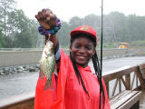 WOE78  Area Urban youth enjoy fishing opportunities provided by FWS at Patuxent Wildlife Research...