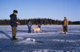 Ice fishing at Kenai National Wildlife Refuge