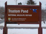 Trustom Pond National Wildlife Refuge entrance sign