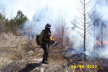 Fred Adams with a Drip torch at a prescribed burn at Chesapeake Marshlands National Wildlife...