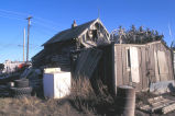 Kotzebue log home and Caribou antlers