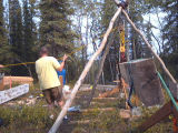 Building an Alaska cabin foundation