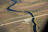 Kanuti River and Dalton Highway river crossing