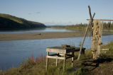 Subsistence fish camp on the Koyukuk River