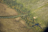 Trans Alaska Pipeline crossing tributary of Koyukuk River