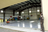 Kanuti National Wildlife Refuge Manager Mike Spindler at aircraft hanger in Bettles, Alaska