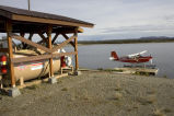 Kanuti National Wildlife Refuge floatplane facility at VOR Lake in Bettles, Alaska