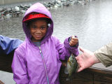 WOE79  Area urban youth enjoy fishing oportunities provided by FWS at Patuxent Wildlife Research...