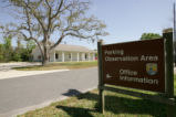 Offices and sign at Lacassine National Wildlife Refuge
