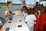 Students learn about fish species