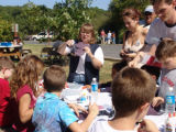 Children learning about crafts