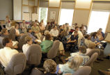 People in classroom during meeting at National Conservation Training Center