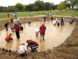 Children at new pond during WOW Workshop at Harpers Ferry National Historical Park (NHP)