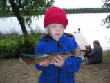 Rainbow trout fishing in Alaska with children