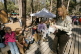 Female U.S. Fish and Wildlife Service employee talks about wildlife at St. Marks National Wildlife...
