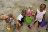 Children enjoying the sand.