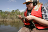 Volunteer on air boat