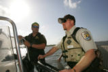 Bayou Sauvage Refuge officers working with Louisiana Wildlife officers